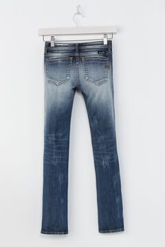 Miss Me Girls' Indigo Plain Distressed Jeans - Skinny , , hi-res