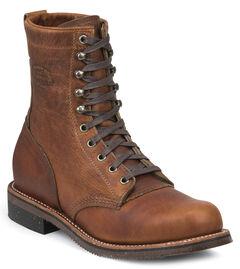 Chippewa Men's Tan Renegade Service Boots - Round Toe, , hi-res