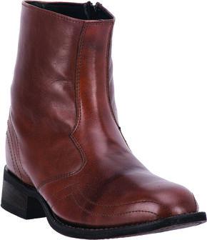 Laredo Men's Hoaxie Side-Zip Short Boots, Brown, hi-res