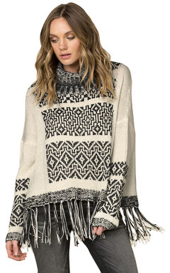 Miss Me Women's Fringe Trimmed Turtleneck Sweater, , hi-res