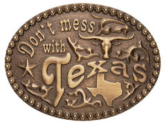 AndWest Men's Don't Mess With Texas Belt Buckle, , hi-res