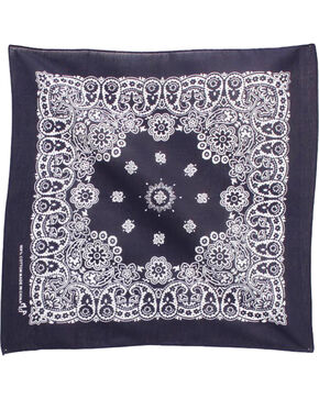 M&F Western Navy Western Fashion Bandanna , No Color, hi-res