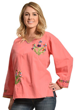 Boho Jane Pink Pansy Top, , hi-res