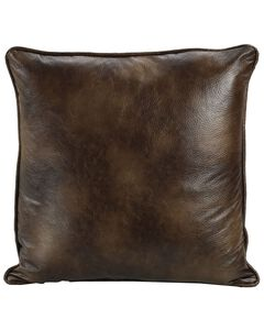 HiEnd Accents Dark Faux Leather Euro Sham, , hi-res