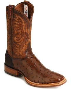 Tony Lama Full Quill Stockman Boots, , hi-res