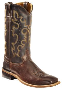 Old West Men's Brown Western Cowboy Boots - Square Toe, , hi-res
