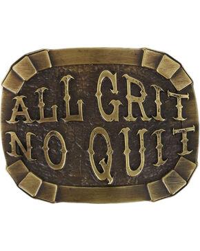 Cody James Men's All Grit No Quit Belt Buckle, Silver, hi-res