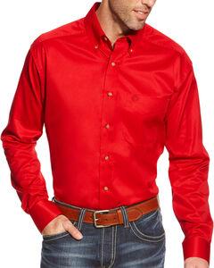Ariat Men's Red Twill Western Shirt , , hi-res
