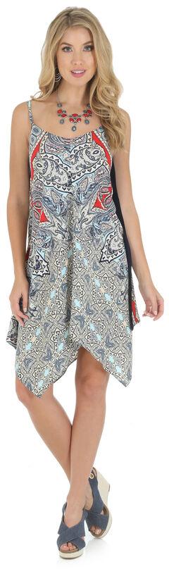 Wrangler Women's Strappy Handkerchief Draped Dress, , hi-res