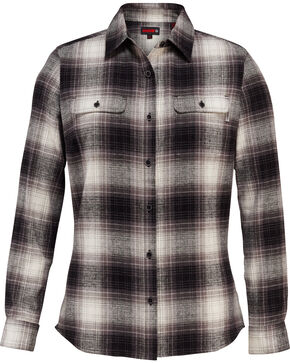 Wolverine Women's Aurora Flannel Shirt , Black, hi-res