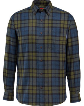 Wolverine Men's Hammond Long Sleeve Flannel Shirt , Black, hi-res