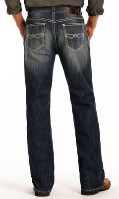 Rock & Roll Cowboy Men's Blue Double Barrel Reflex Jeans - Straight Leg , , hi-res