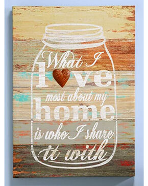 Giftcraft Love Home Wooden Wall Sign , Multi, hi-res