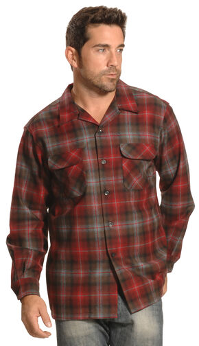 Pendleton Men's Red Plaid Board Shirt  , Red, hi-res