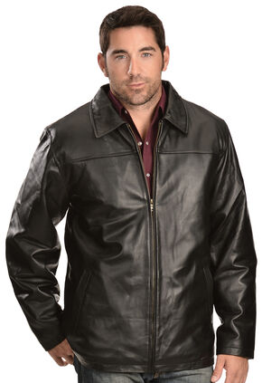 Vintage Leather Zip Out Lining Black Lambskin Jacket, Black, hi-res