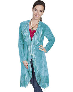 Scully Boar Suede Fringed Maxi Coat, , hi-res