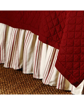 HiEnd Accents Prescott Red Stripe Bedskirt - King, Red, hi-res