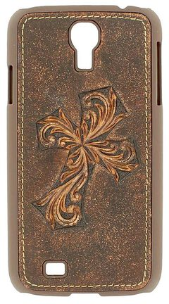 Nocona Distressed Diagonal Cross Galaxy S4 Case, , hi-res