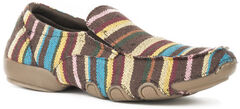Roper Women's Liza Striped Driving Mocs , , hi-res