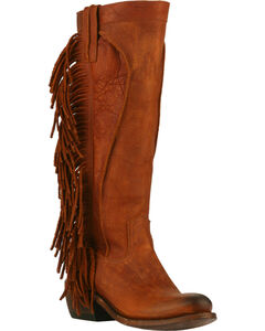 Junk Gypsy by Lane Chili Brown Texas Tumbleweed Boots - Round Toe , , hi-res