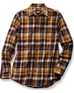 Timberland PRO Men's Brown Plaid Flannel Work Shirt, Brown, hi-res