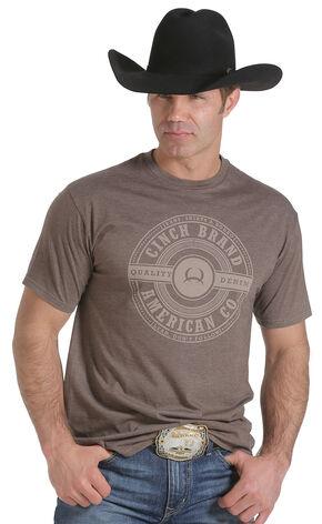 Cinch Men's Brown Logo T-Shirt  , Brown, hi-res