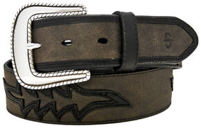 Stetson Leather Overlay Belt, Multi, hi-res