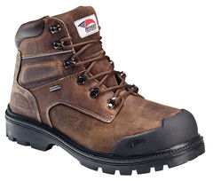 Avenger Men's Brown Waterproof Breathable Work Boots - Steel Toe, , hi-res