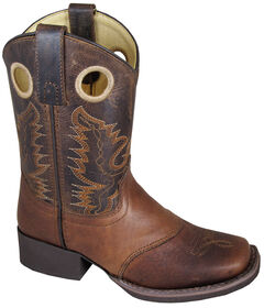Smoky Mountain Youth Boys' Luke Leather Western Boots - Square Toe, , hi-res