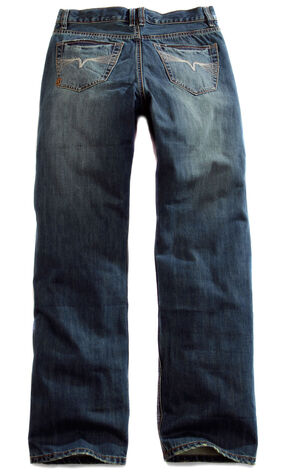 Tin Haul Men's Regular Joe Straight Leg Sand Blasted Jeans, Denim, hi-res