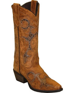 Rawhide by Abilene Women's Cutout and Nailheads Western Boots - Snip Toe, , hi-res