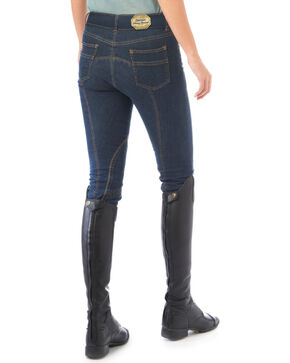 Ovation Women's Stretch Denim Euro Seat Breeches, Denim, hi-res