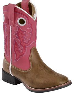 Laredo Children's Pink Stitched Cowgirl Boots, , hi-res