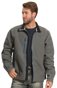 Cowboy Hardware Men's Grey and Blue Woodsman Jacket , Steel, hi-res