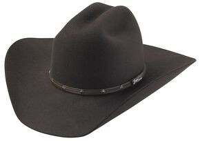 Tony Lama Low Rodeo Chocolate 3X Wool Cowboy Hat, Chocolate, hi-res