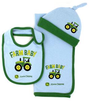 John Deere Infant Boys' Farm Baby 3-Piece Layette Set, Light Blue, hi-res