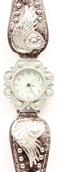 Bedecked Heart & Wing Concho Watch, , hi-res