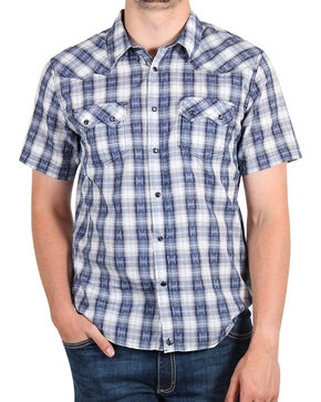 Cody James Rattler Plaid Long Sleeve Shirt, Navy, hi-res