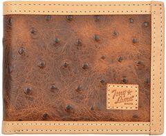 Tony Lama Ostrich Print Bi-Fold Wallet, , hi-res