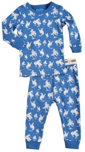Cowboy Hardware Infant Boys' Blue Horse Print Playset, Navy, hi-res