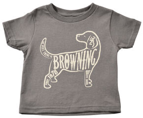 Browning Toddler Boys' Dog T-Shirt , Charcoal Grey, hi-res