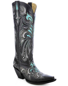 Corral Women's Embroidered Tall Cowgirl Boots - Snip Toe, , hi-res