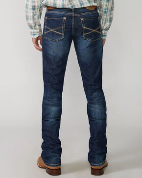"""Stetson Rock Fit Barbwire """"X"""" Stitched Jeans, Med Wash, hi-res"""