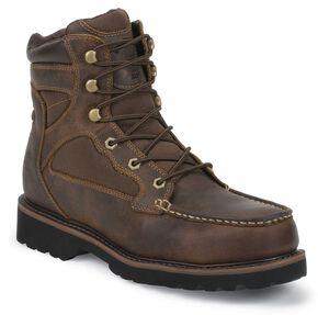 Justin Light Lace-Up Hiker Boots - Composite Toe, Tan, hi-res