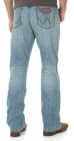 Wrangler Retro Relaxed Fit Light Wash Boot Cut Jeans, , hi-res