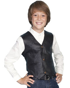 Scully Boys' Lambskin Vest, , hi-res