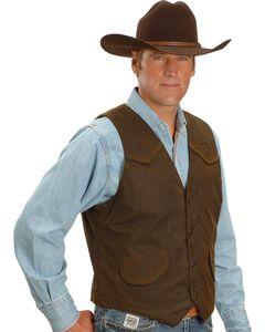 Outback Trading Co. Cliff Dweller Berber Lined Oilskin Vest, , hi-res
