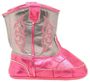 Blazin Roxx Infant Girls' Buckers Infant Kinsley Booties, Pink, hi-res