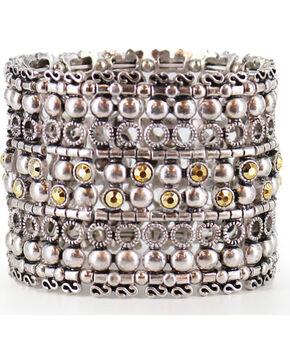 Shyanne Women's Layered Stretch Bracelet, Silver, hi-res