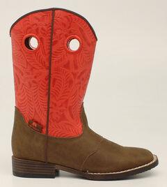 Double Barrel Boys' Sam Cowboy Boots - Square Toe, , hi-res